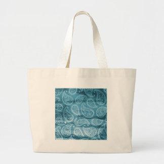 Grand Tote Bag Paisley bleu