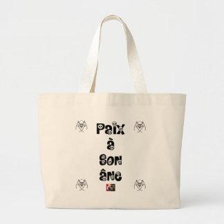 Grand Tote Bag PAIX À SON ÂNE - Jeux de Mots - Francois Ville