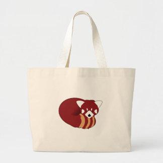 Grand Tote Bag Panda rouge