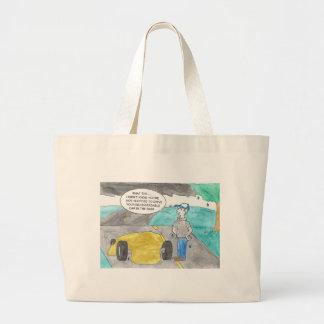 Grand Tote Bag Papa amical d'Eco