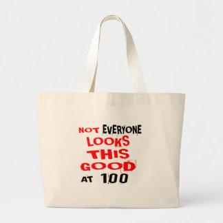 Grand Tote Bag Pas chacun regarde ceci bon 100 l'anniversaire