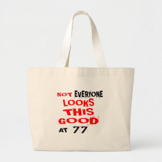 Grand Tote Bag Pas chacun regarde ceci bon 77 l'anniversaire