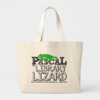 Grand Tote Bag Pascal le lézard Fourre-tout de bibliothèque