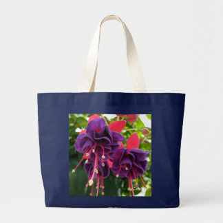 """Grand Tote Bag """"Passion rose pourpre"""" Fourre-tout enorme"""