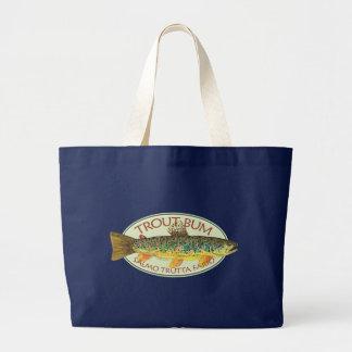 Grand Tote Bag Pêche de mouche de truite