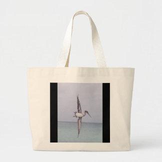 Grand Tote Bag Pélican enorme de Fourre-tout de plage de toile en
