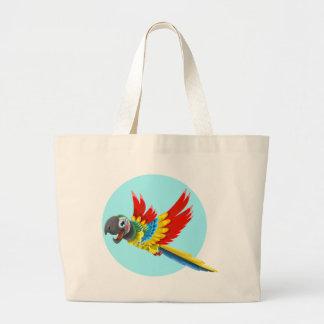 Grand Tote Bag perroquet