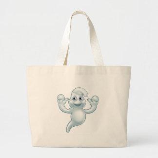 Grand Tote Bag Personnage de dessin animé mignon de fantôme de