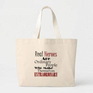 Grand Tote Bag Personnes extraordinaires de vrais héros