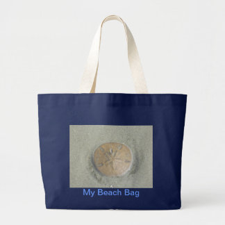 Grand Tote Bag photo du dollar de sable sur la plage fourre-tout