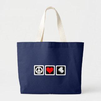 Grand Tote Bag Piano d'amour de paix