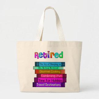 Grand Tote Bag Pile unique de cadeaux de retraite de conception