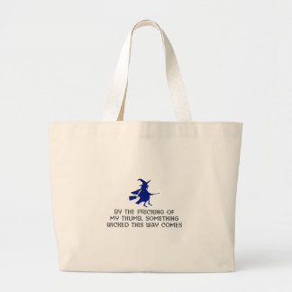 Grand Tote Bag Piquage de ma conception de Halloween de pouce