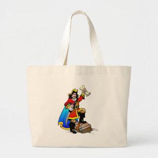 Grand Tote Bag Pirate avec le coffre au trésor et la carte
