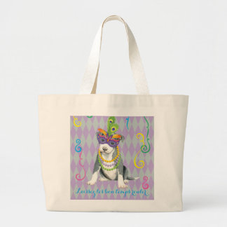 Grand Tote Bag Pitbull Terrier de mardi gras
