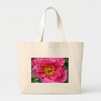 Grand Tote Bag Pivoine de roses indien de 73:26 de psaume