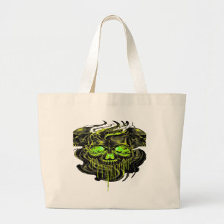 Grand Tote Bag Png brillant de squelettes de Yella