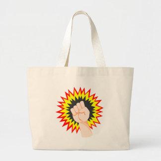 Grand Tote Bag Poinçon d'énergie de puissance de bras de force de