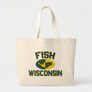 Grand Tote Bag Poissons le Wisconsin