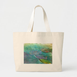 Grand Tote Bag poissons nageant environ