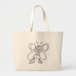 Grand Tote Bag Pom-pom girl de papillon