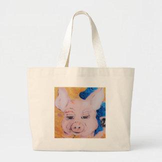 Grand Tote Bag Porc de ruban bleu