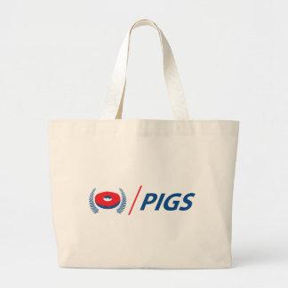 Grand Tote Bag Porcs de la Nouvelle Zélande avec le beignet
