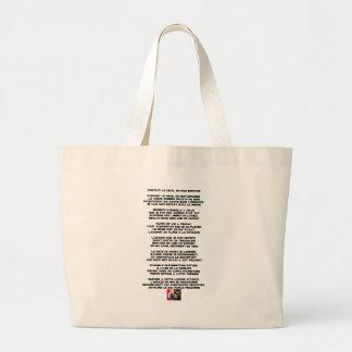 Grand Tote Bag Portant le Deuil de mon Enfance - Poème