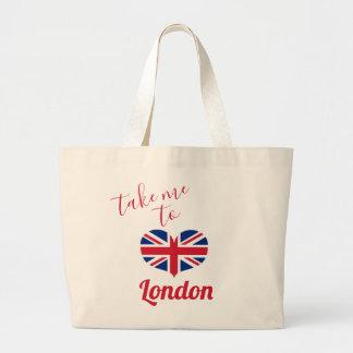 Grand Tote Bag Portez-moi au drapeau BRITANNIQUE en forme de