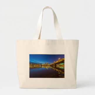 Grand Tote Bag Portland OU heure du centre de bleu d'horizon de