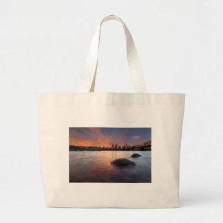 Grand Tote Bag Portland OU horizon le long de coucher du soleil