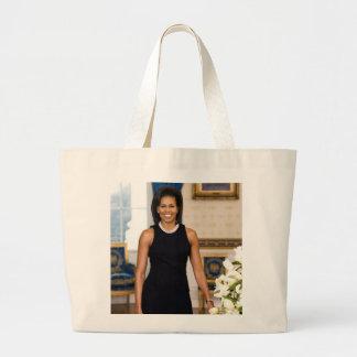 Grand Tote Bag Portrait officiel de première Madame Michelle