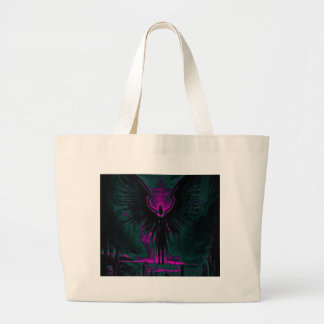 Grand Tote Bag Pourpre angélique et Teal de gardien