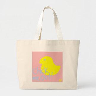 Grand Tote Bag Poussin je 1