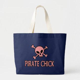 Grand Tote Bag Poussin rose de pirate