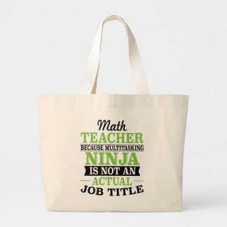 Grand Tote Bag Professeur de maths Ninja multitâche pas une
