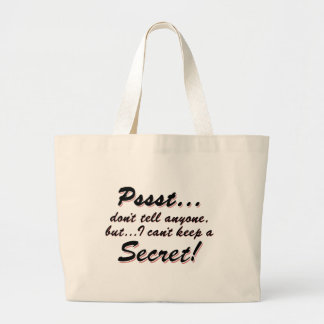 Grand Tote Bag Pssst… je ne peux pas garder un SECRET (le noir)