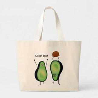 Grand Tote Bag Puits vert encourageant drôle d'appui renversé