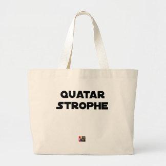 Grand Tote Bag QUATAR STROPHE - Jeux de mots - Francois Ville