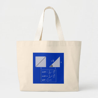 Grand Tote Bag Raisons trigonométriques de 45º