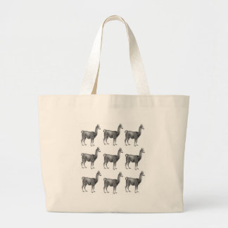 Grand Tote Bag rangées de lama