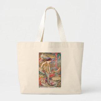 Grand Tote Bag Reine de sirène des poissons