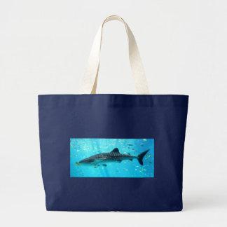 Grand Tote Bag Requin de baleine bleue frais élégant chic de
