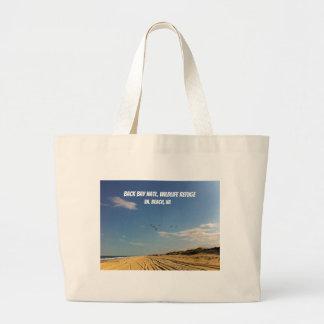 Grand Tote Bag Réserve nationale de baie arrière, plage de VA, VA