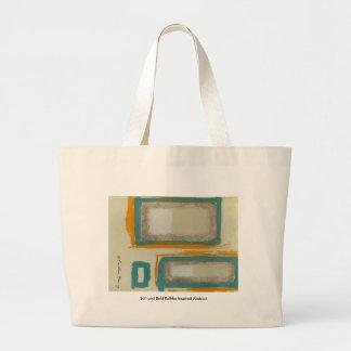 Grand Tote Bag Résumé inspiré par Rothko mou et audacieux signé