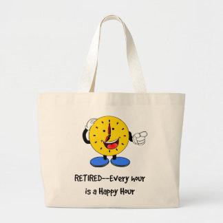 Grand Tote Bag Retiré--Chaque heure est une heure heureuse