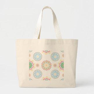 Grand Tote Bag Rétro conception abstraite de Bohème d'ornement