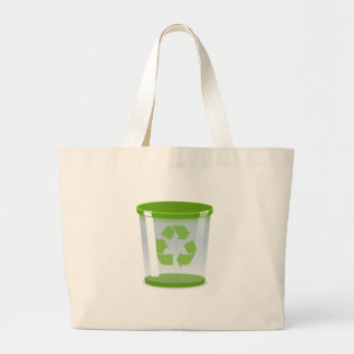 Grand Tote Bag Réutilisez la poubelle