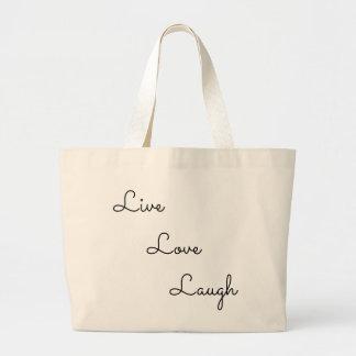 Grand Tote Bag rire vivant d'amour