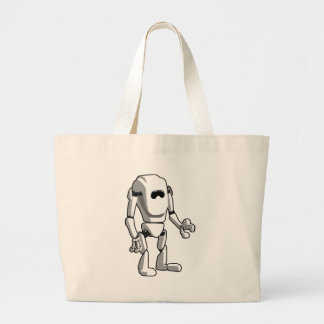 Grand Tote Bag Robot futuriste